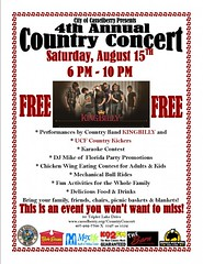 City of Casselberry 4th Annual Country Concert (poster)