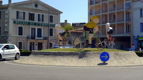 Tour de France roundabout