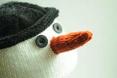 Children's Knit Hat (Snowman)