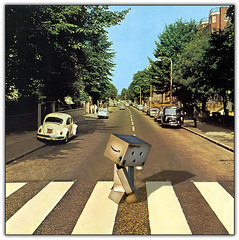The Fifth Beatle ('PixelPlacebo') Tags: cute london 1969 liverpool ego toy ebay photos band adorable buddy legendary adventure plastic beatles abbeyroad crosswalk alter rare fabfive danbo fifthbeatle revoltech danboard peccadilloes utstandingimages cardboardgroupies danmcbo
