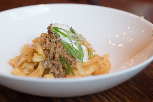Local Organic Fries as Lamb Ragout Poutine