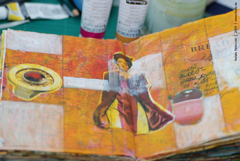 Colourful page, art journal