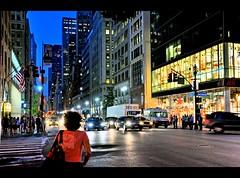 Stranger in NYC (Lanamaniac) Tags: street new york city nyc newyorkcity sunset urban ny newyork cars night dark person photography lights photo nikon glow pavement manhattan streetphotography stranger midtown explore ave portfolio nikkor cabs eastside 6th eastcoast personphoto d90 peoplephoto nikond90 nikonflickraward lanamaniac strangerinnyc lanamaniacphotography