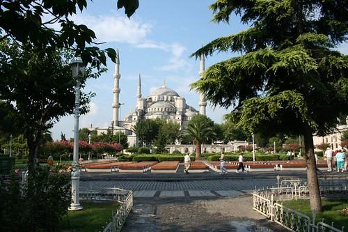 Mesquita Azul no centro de Istambul na Turquia