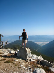 Caleb atop Parker Peak, Selkirk Mountains, North Idaho.