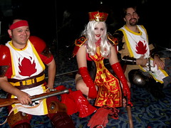 Lady Whitemane & others. (NOT the Queen of Hearts.) (merrypranxter) Tags: fiction nerd hearts cards costume geek cosplay alice science queen fi dork wonderland 2009 sci dragoncon