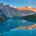 Waiting for the light… Sunrise at Moraine Lake — HDR panorama G