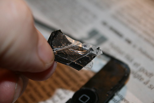 A closer look at the adhesive tape use on the iPhone