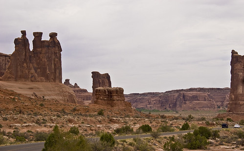 The rock formations of three gossips & sheep rock