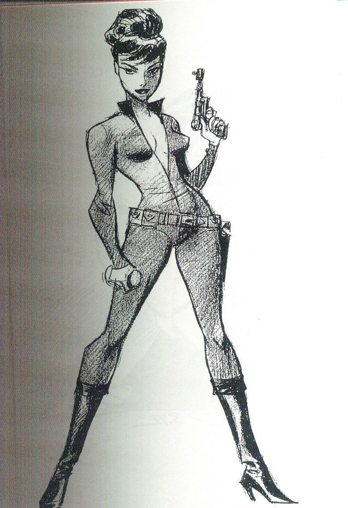 Modesty Blaise (Girls: Bruce Timm Sketchbook, 2009)
