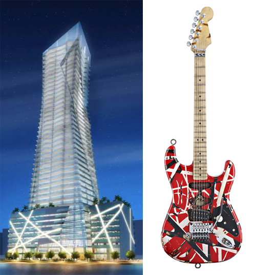 Daniel Libeskind building / Van Halen guitar