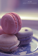 Pastel Macarons (Ashley E. Moore) Tags: pink blue food yellow 50mm yummy pastel sweets macarons 50mmlens dreamylight