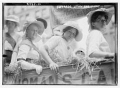 Suffrage Straw Ride  (LOC) (The Library of Congress) Tags: women demonstration rights libraryofcongress womensrights voting suffragists suffrage womansuffrage haywagon suffragettes xmlns:dc=httppurlorgdcelements11 suffragemovement dc:identifier=httphdllocgovlocpnpggbain13817