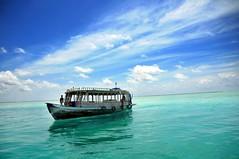 [フリー画像] [船舶/ボート] [海の風景] [モルディブ]        [フリー素材]