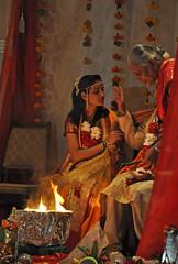 DSC 0307 ep (Eric.Parker) Tags: wedding costume terrace traditional decoration ceremony marriage garland ritual priest tradition hindu hinduism marigold sari kalle mala girish ashok shadi riya hindi akshay rajasthan sanskrit dhoti aruna chanting homa recitation havan konkani v