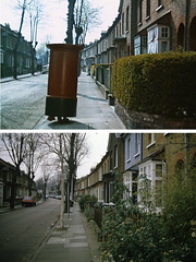 Walking letterbox 1965-1988 (pietschreuders) Tags: london help beatles stmargarets twickenham rephotography
