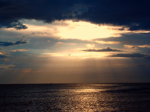Heaven kissed the sea.