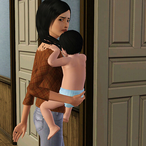 Sai isn't quite sure why she's carrying the kid