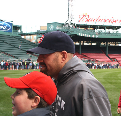 Kevin Youkilis with a fan by you.