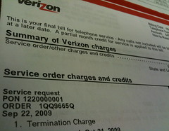 Verizon Termination Charge