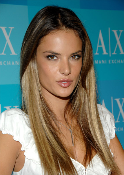 Alessandra Ambrosio at Armani Exchange New York