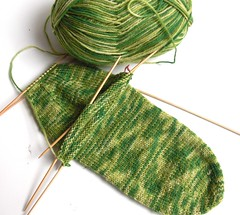 First Discovery sock from Cat Bordhi's new book