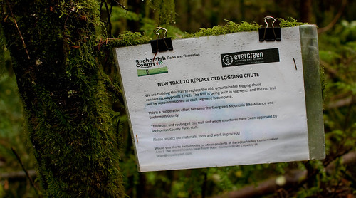 New trail sign