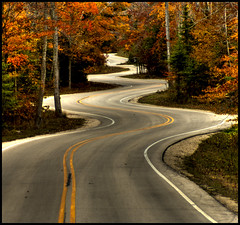 Curvy Road (helikesto-rec) Tags: road wisconsin newport doorcounty gillsrock highway42