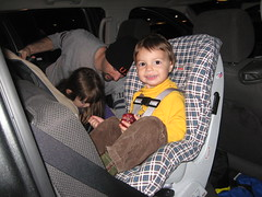 IMG_6463 (jhdiddle) Tags: roundabout newhampshire convertible carseat plaid day10 soren britax october2009 newenglandvacation2009 drivetobobbishouse maroonbluewhite