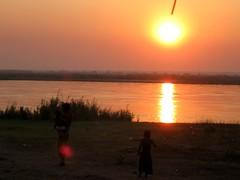 Sunset over the Zambezi river (Erik Cleves Kristensen) Tags: africa sunset river mozambique tete zambezi zambeziriver