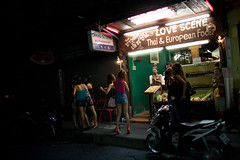 (sobri) Tags: street girls food sexy night thailand bangkok drugstore prostitutes lovescene bargirls soicowboy
