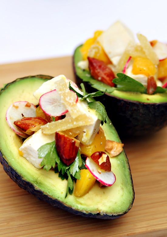 Avocado Chicken Salad with Mango