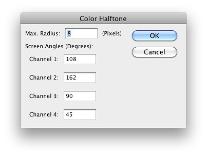 ColorHalftones in Photoshop
