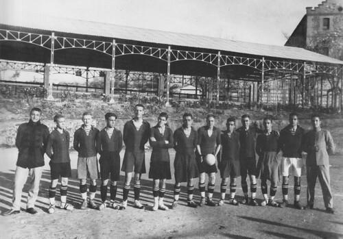 Equipo de fútbol de la Academia de Infantería de Toledo en 1927. Escuela Central de Educación Física. Fotografía Rodríguez.