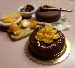 Miniature Food - Prep'Board Chocolate Orange Cake
