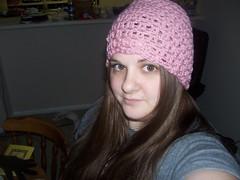 Raspberry Crochet Beanie (Stefan's Mama) Tags: hat women adult crochet beanie