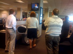 Inauguration at the newsroom