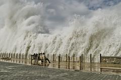 Muralla de agua/ Water wall (zubillaga61) Tags: sea mar waves sansebastian olas donostia tempestad paseonuevo flickrsbest
