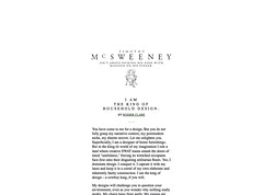 McSweeney's Internet Tendency- I Am the King of Household Design._1232665126995