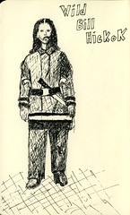 Wild Bill Hickok (christennyson) Tags: moleskine drawing wildwest rapidograph gunslingers isuckatdrawing