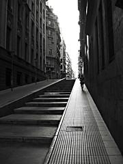 LA VALLE Y ALEM 1 (gastonrmoreno) Tags: blancoynegro buenosaires solitaria lavalle alem escalinata