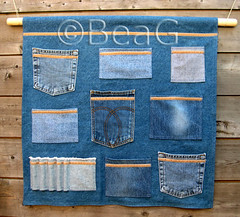 Zakkenlap (Wall Pockets) (Made by BeaG) Tags: blue original kitchen handy studio creativity design office pretty artist belgium designer recycled handmade unique oneofakind ooak kunst garage decoration belgi storage jeans creation organizer denim bluejeans recycling homedecor unica reuse playroom unicum spijkerbroek homedecoration beag denimblue wallorganizer kunstenares uniquedesign ontwerpster recycledecor originaldesigner creativedesigner zakkenlap designedandmadebybeag uniekontwerp ontworpenengemaaktdoorbeag recyclehomedecor