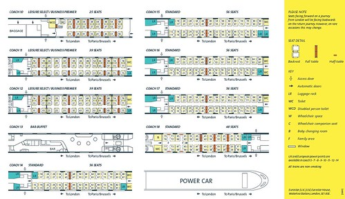 Eurostar - Train plan coaches 10 to 18