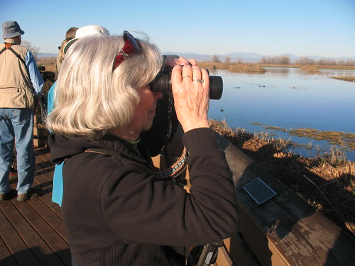 Mom at the Colusa Wildlife Refuge