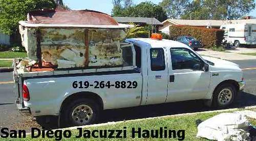 San Diego jacuzzi hauling. 619-264-8829