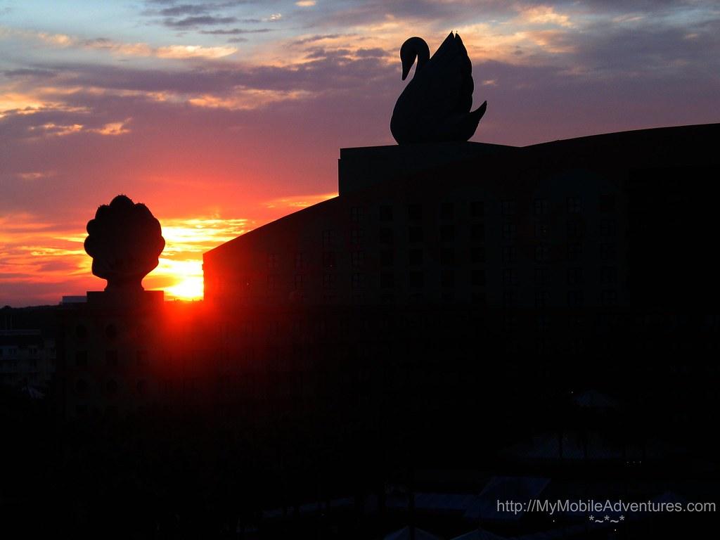 IMG 2952-WDW-Swan-Hotel-sunrise-sky-clouds