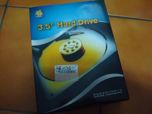 沒看過的硬碟包裝吧!