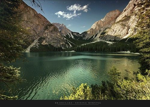 Braies lake - Shining Morning by Texasflood_it, on Flickr