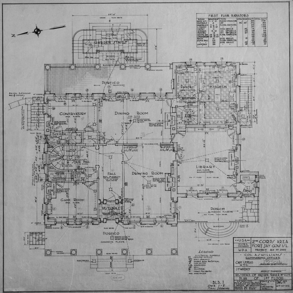 Governor's Island, NY Commanding Officer's Quarters 1st floor plan