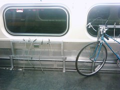 New Caltrain bike rack (jen.rizzo) Tags: cellphone